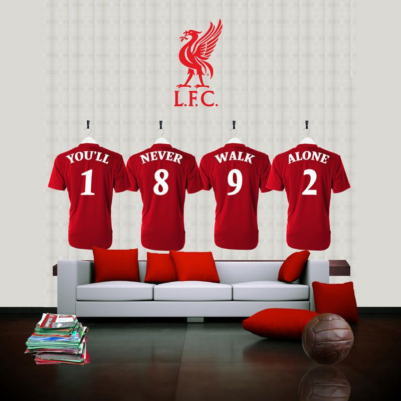 Liverpool football club dressing room heros wallpaper for Design your own mural wallpaper