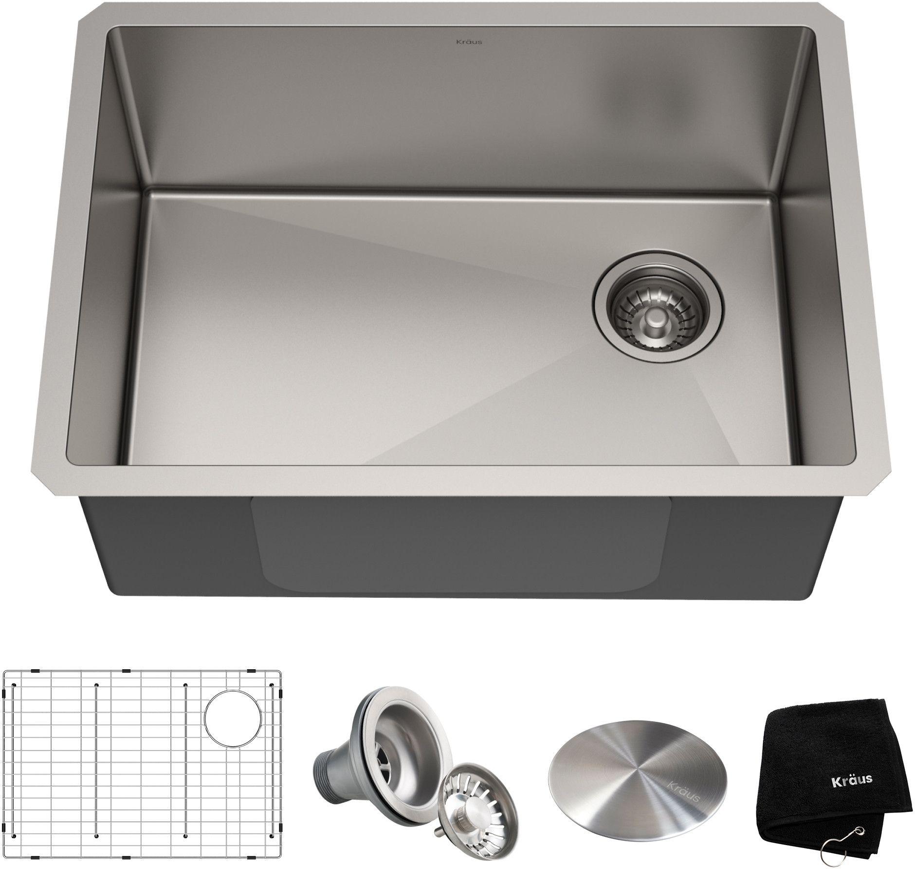 Kraus Standart Pro Undermount Sink Satin Finish Khu11125 Sink