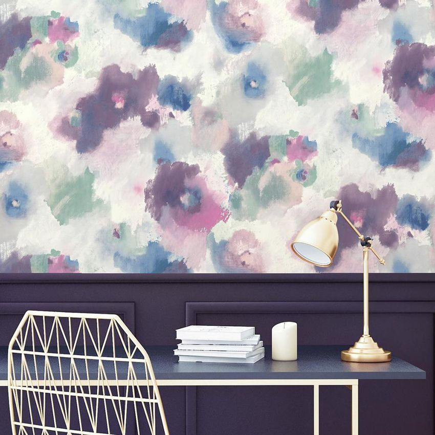 30 Creative Ways To Use Peel And Stick Wallpaper Peel And Stick Wallpaper Floral Wallpaper Temporary Wallpaper