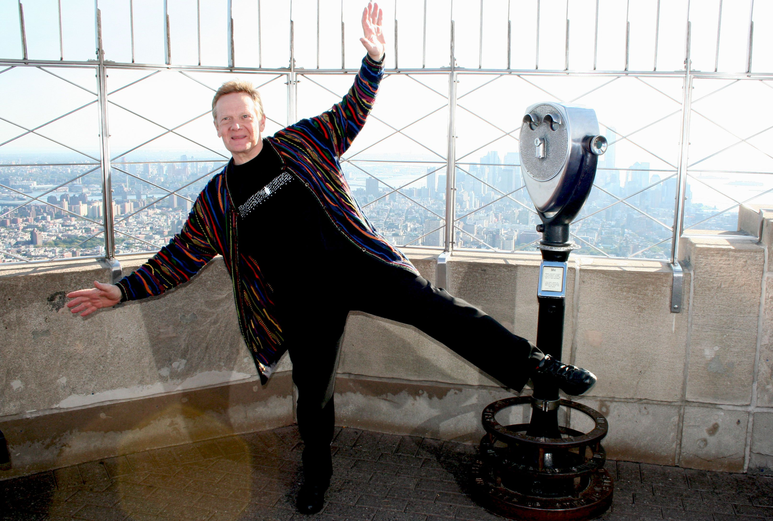 October 7, 2015 Renowned high wire artist Philippe Petit