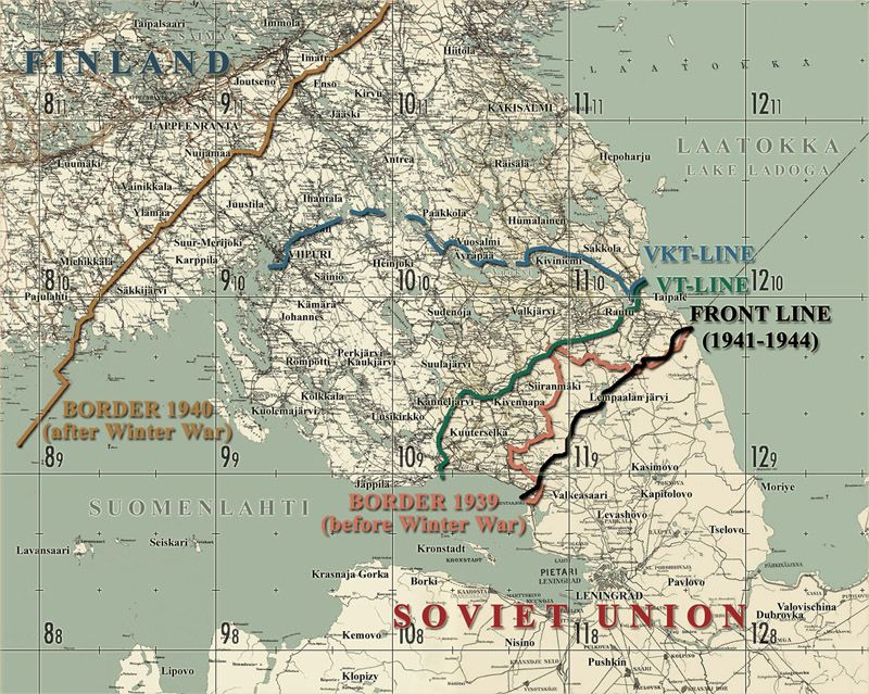 This Map Shows Finland S Karelian Isthmus Pre War Border Front