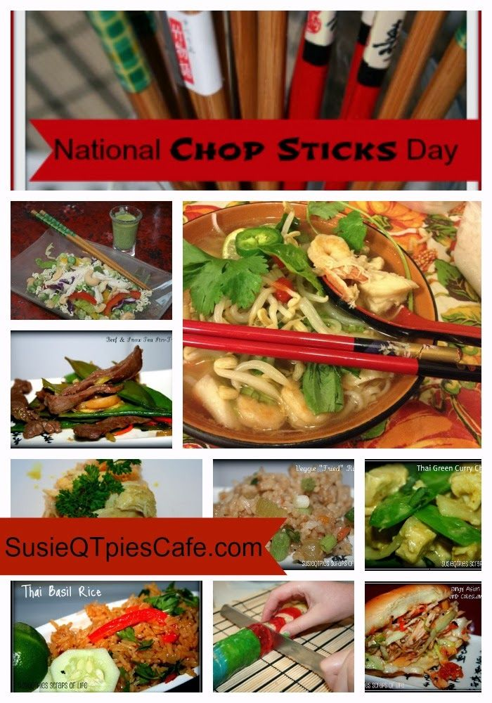 SusieQTpies Cafe: {February 6} National ChopStick Day With