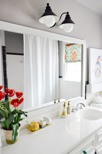 10 Cheap Ways To Make Your Home Look More Expensive. Framing Mirror In  BathroomHow ...