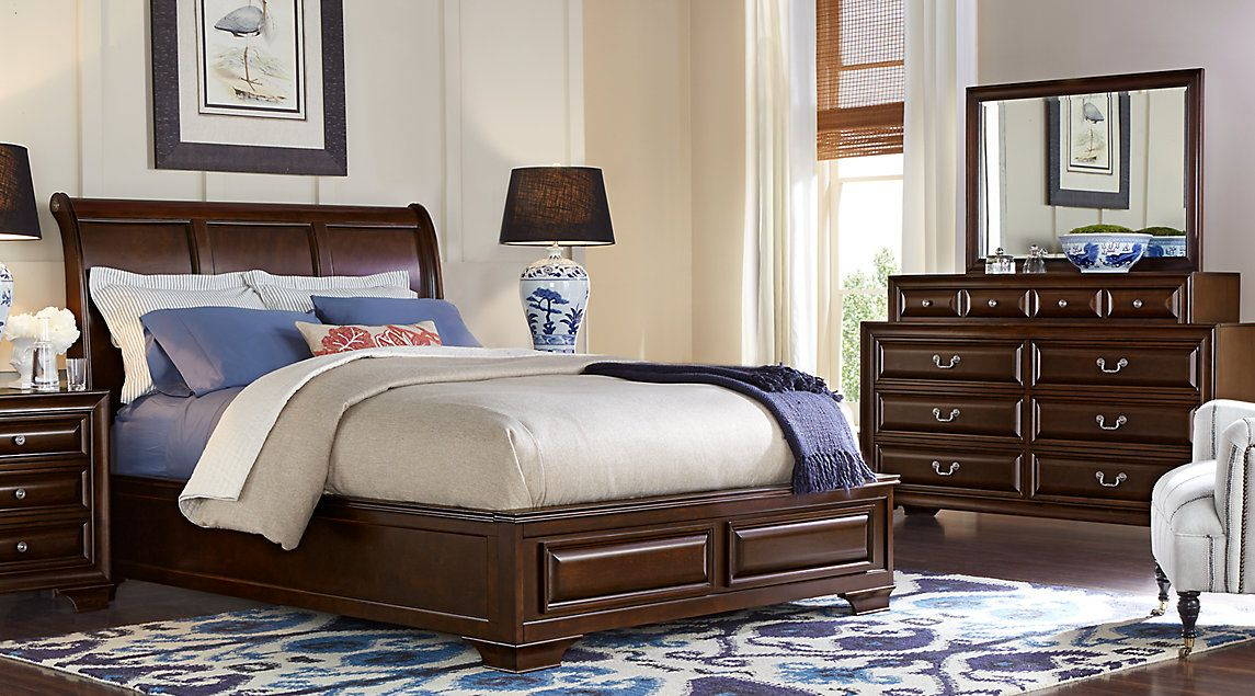 Affordable Sleigh Queen Bedroom Sets   Rooms To Go Furniture