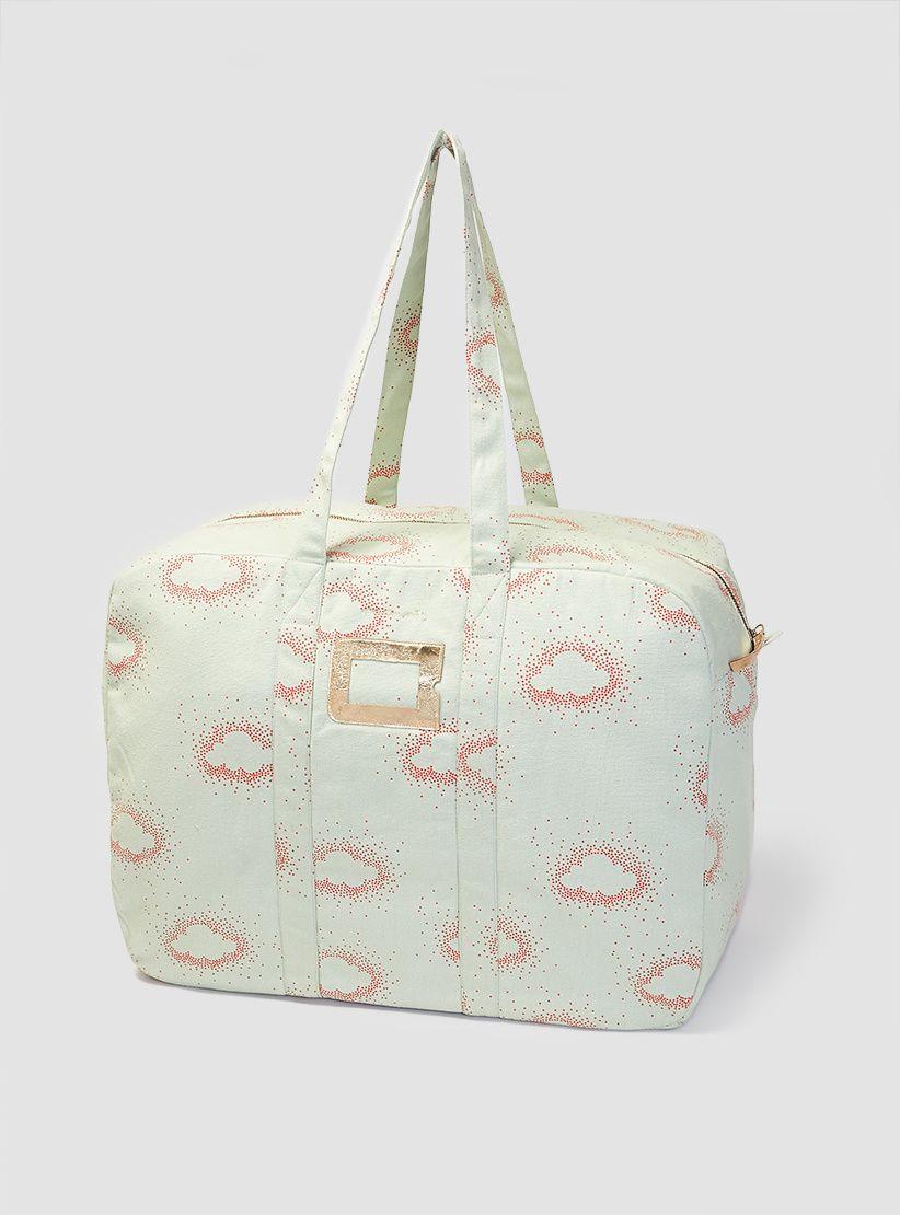 Mario Weekend Bag Coral & Aqua