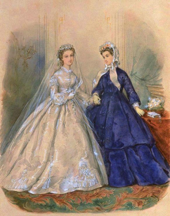 Gallery.ru / Фото #12 - Свадебная мода. Акварельные рисунки из книг мод за 1861-1896 - irgelena