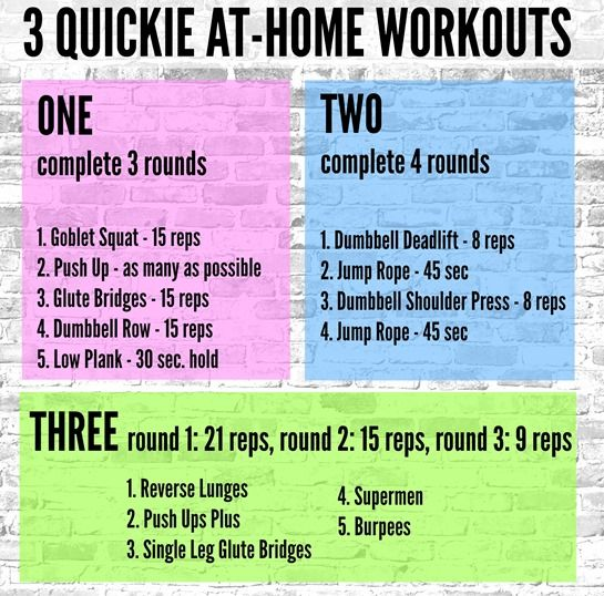 Quick Strategies In Strength Training Uncovered: 3 Quickie At-Home Workouts