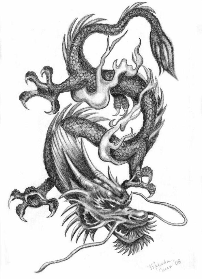 6ff79b1b9 dragon drawings | Chinese dragon in Pencil by Mindsue | Tattoos ...