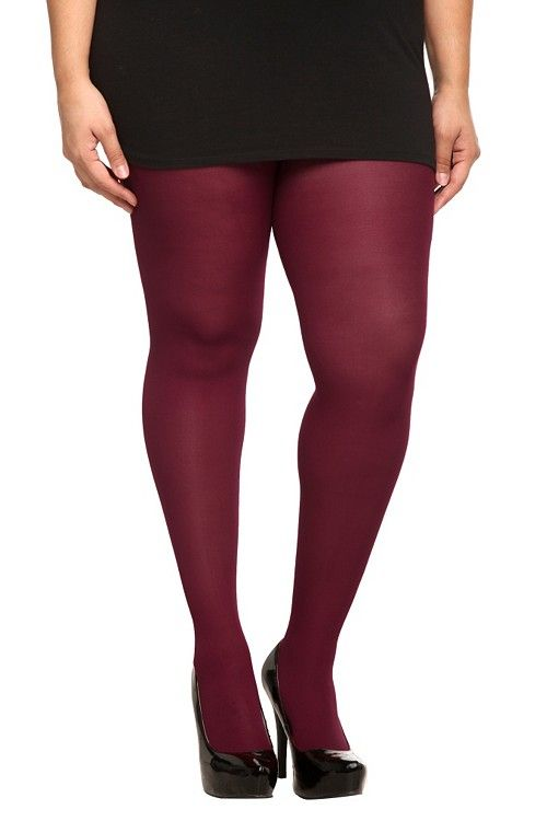 dd6210db64f2b Wine Opaque Tights | Hosiery | My Style | Torrid, Opaque tights ...