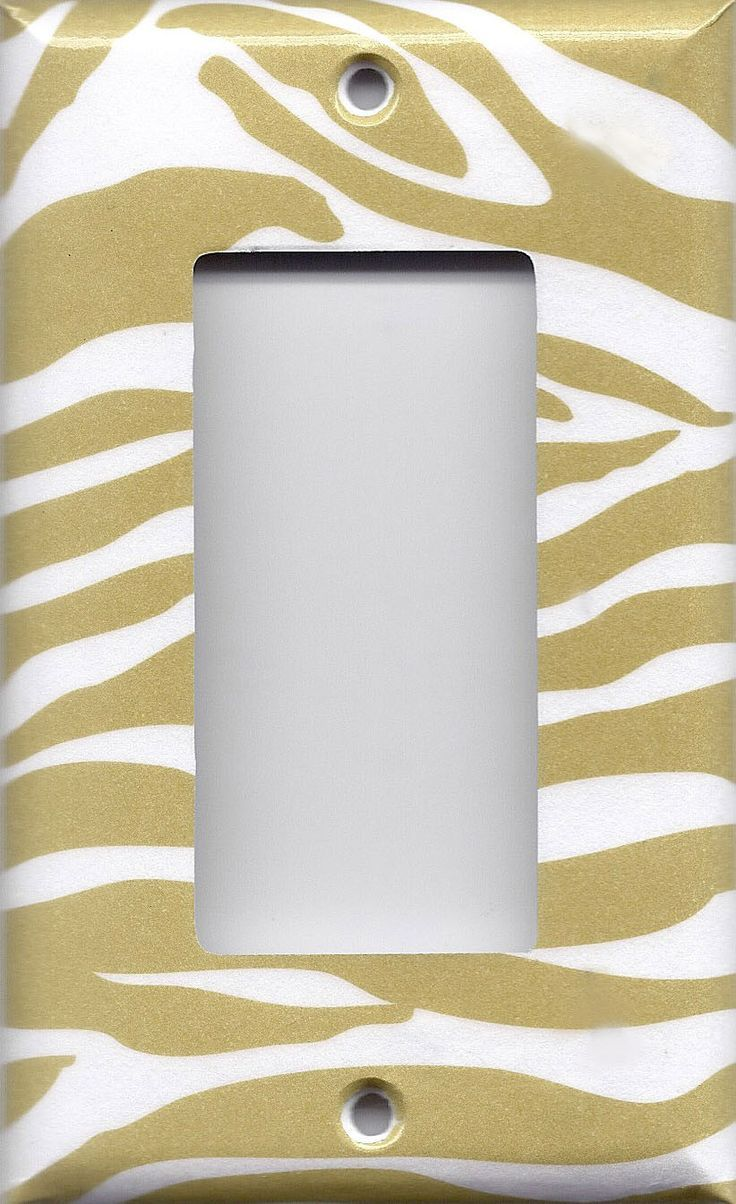 Gold Outlet Covers Gold & White Zebra Animal Print Light Switchplates & Wall Outlet