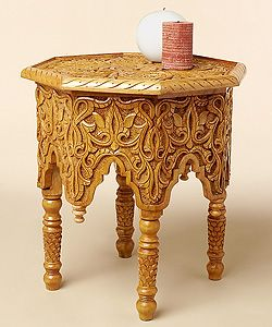 Charmant Hand Carved Moroccan End Table (Morocco) | Overstock.com Shopping   Top  Rated Coffee, Sofa U0026 End Tables
