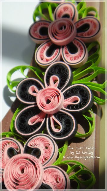 quilled flower decorations lovely shapes like the layering too from the card