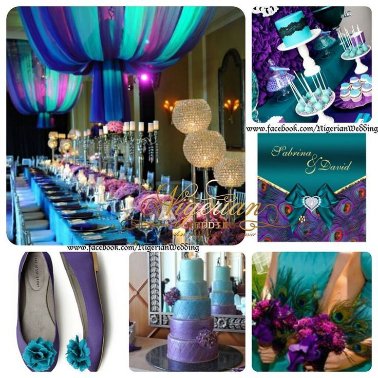 blue and purple wedding colors schemes | Teal & Purple wedding color ...