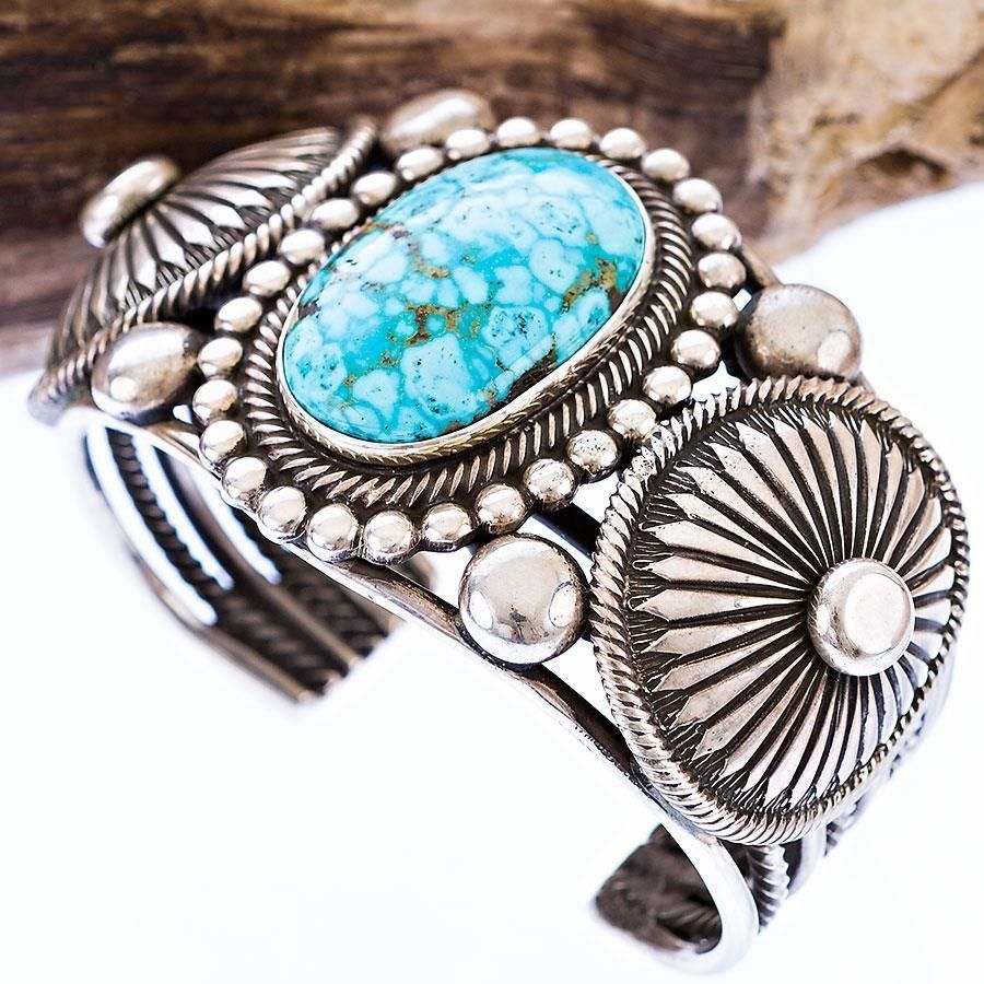 navajo sterling silver turquoise with pilot cuff bracelet mountain pin