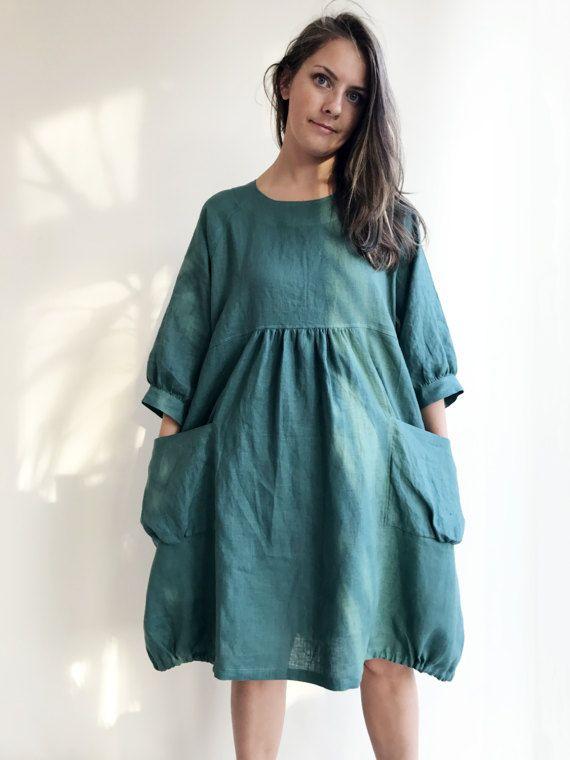 Loose Tunic Dress Linen Dress Linen Tunic Dress Tunic For Women