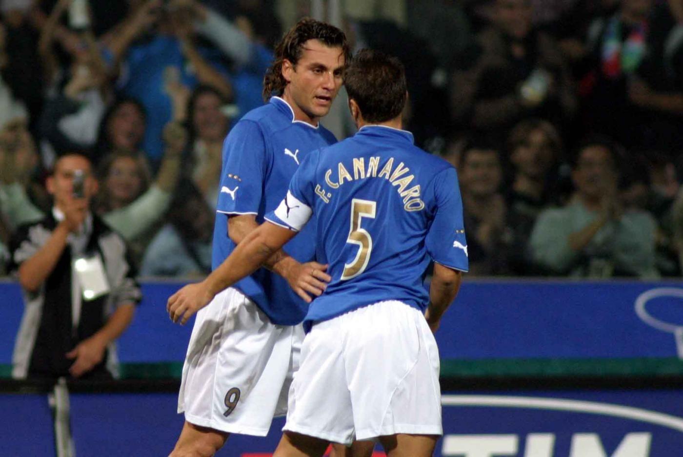 Christian Vieri & Fabio Cannavaro Italy