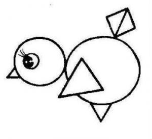 Аппликация из геометрических фигур 8 | Геометрические ...