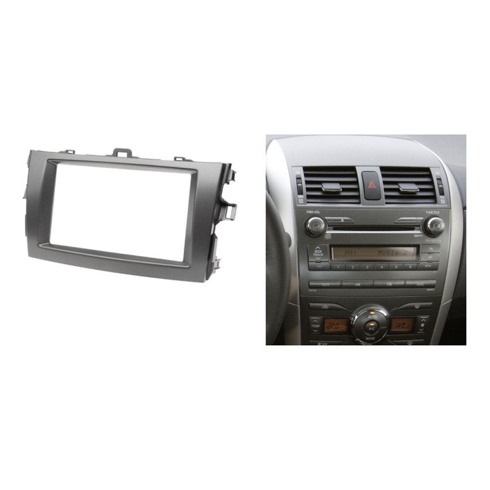 Radio Fascia For Toyota Corolla 2 Din Cd Gps Dvd Stereo Panel Car Wire Wiring Harness To Factory 20052016 Dash Mount Installation Trim Kit Frame Affiliate