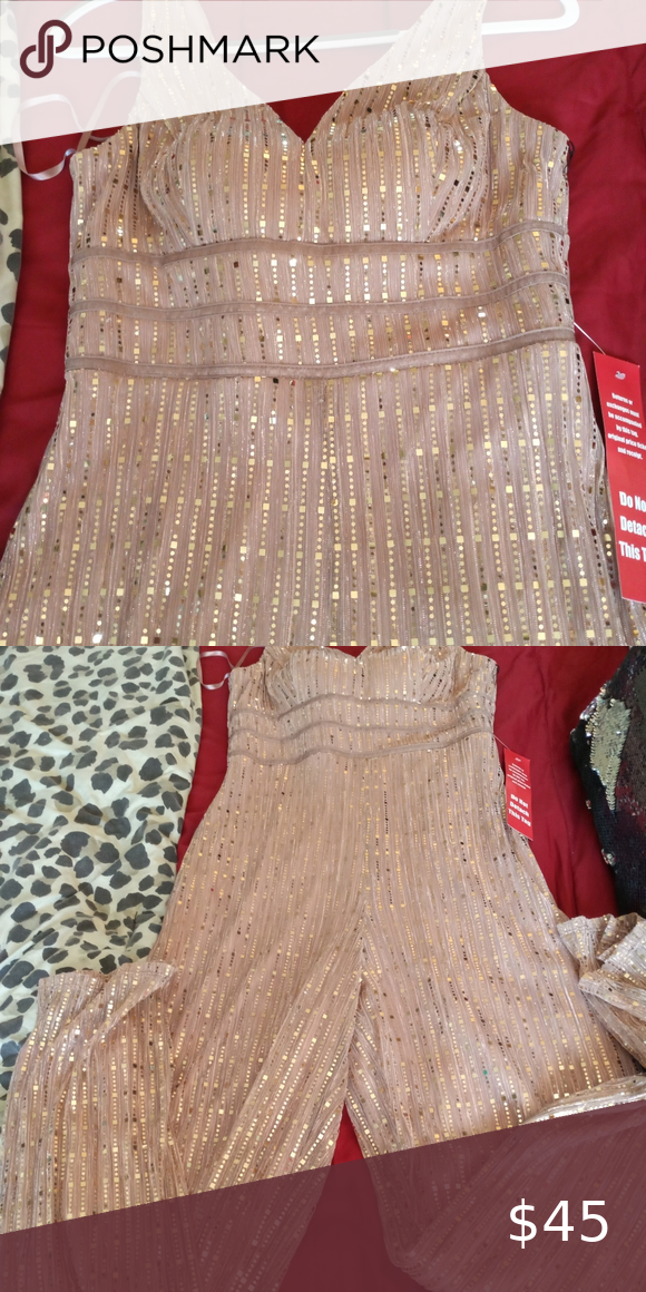 Rose gold jumpsuit size 11