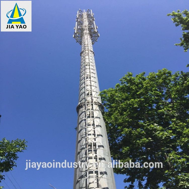 wireless solution mobile communication steel monopole antenna tower