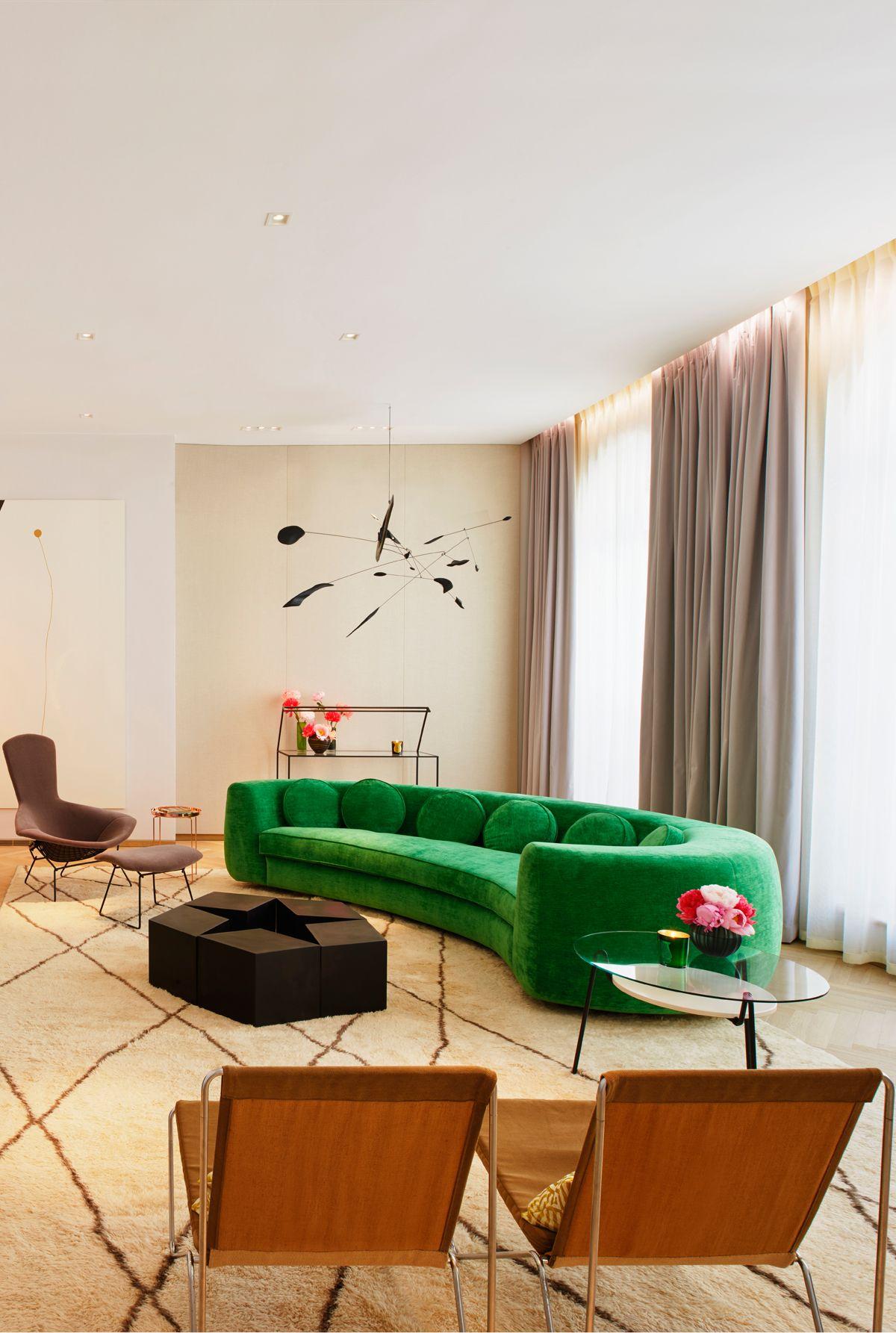 The Mellier Mayfair London Jelly Pea Sofa by India Mahdavi