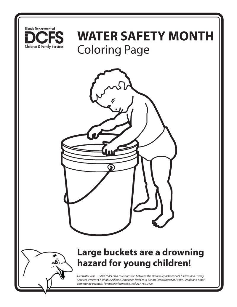 Never Let A Child Play With Barrel Filled Water Can Drown Children PlayColoring BooksDrownWater