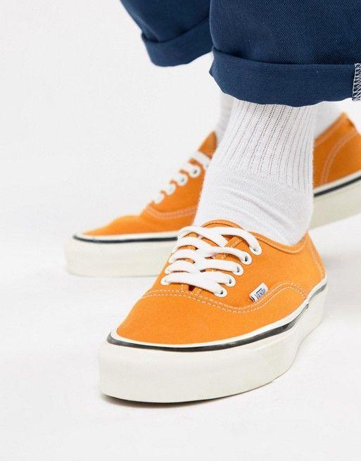 171d7b6108a6f0 Vans Authentic 44 DX Anaheim Sneakers In Yellow VA38ENQA7