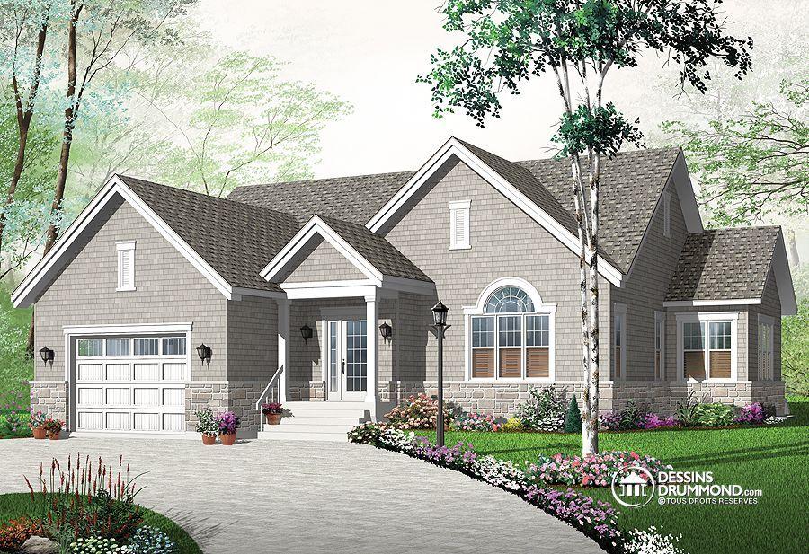 Plan de Maison unifamiliale no 3260-V1 de Dessins Drummond Version - plan maison avec cotation