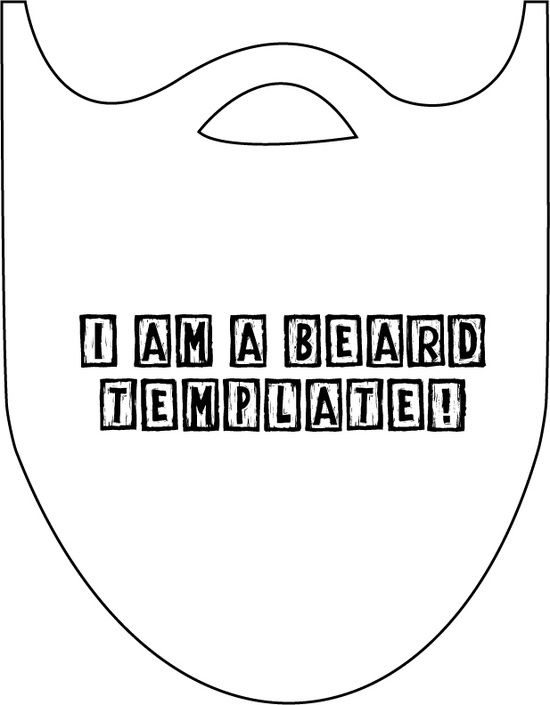 beard template - in white felt or fun fur for a santa photo prop? by ...