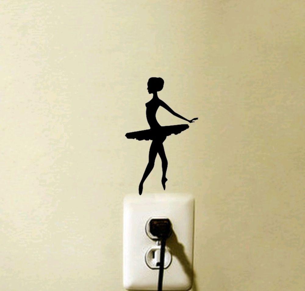 Ballerina light switch decal sticker ballet girl baby nursery | Home ...