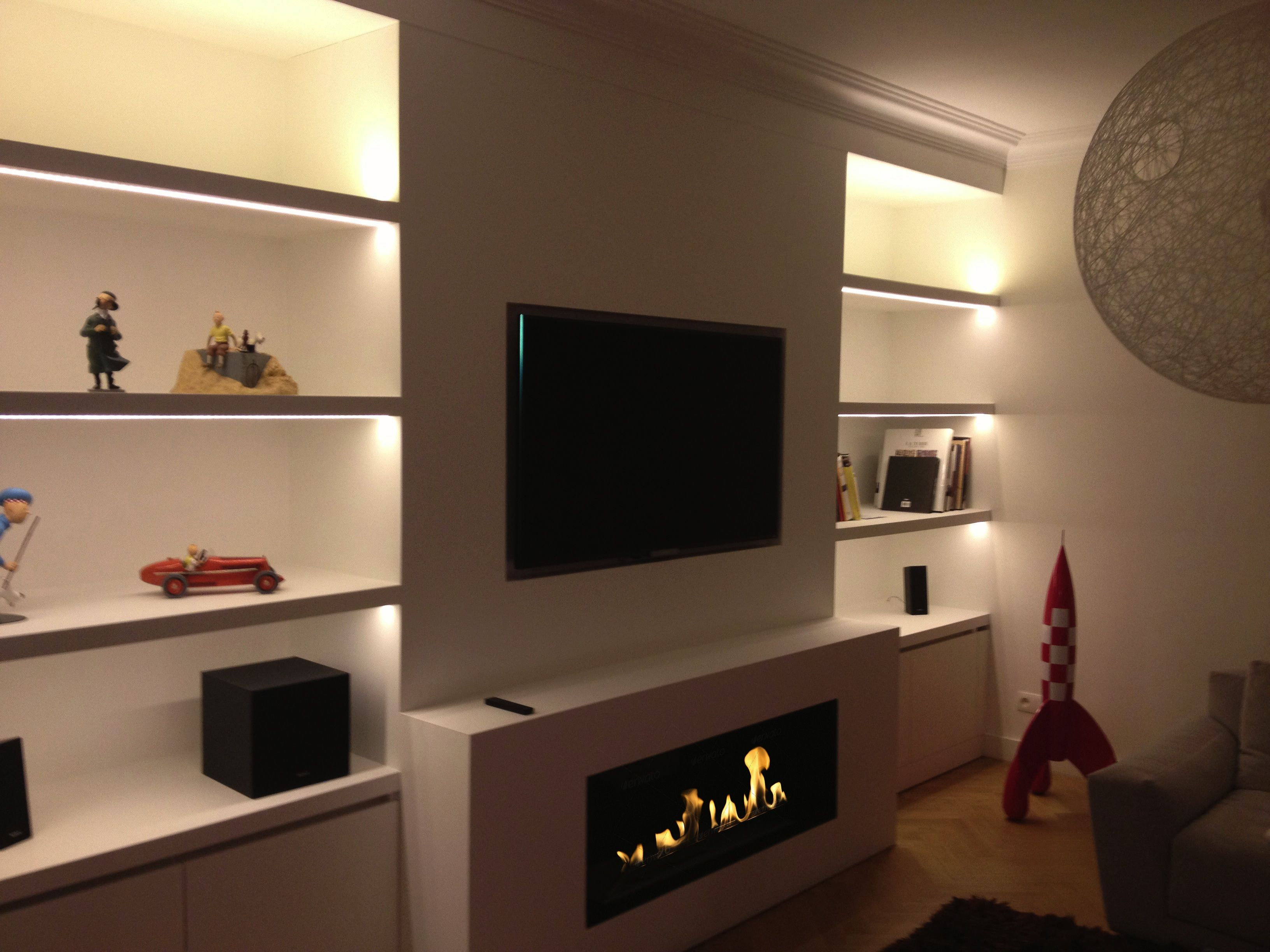 modern entertainment tv pin wall ecosmart with fireplace