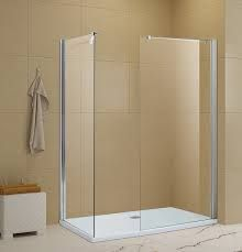 Walk-In Shower Enclosure & Twin Glass Wet Panels.