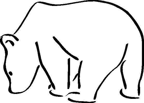 Polar Bear Standing Sideways Drawing