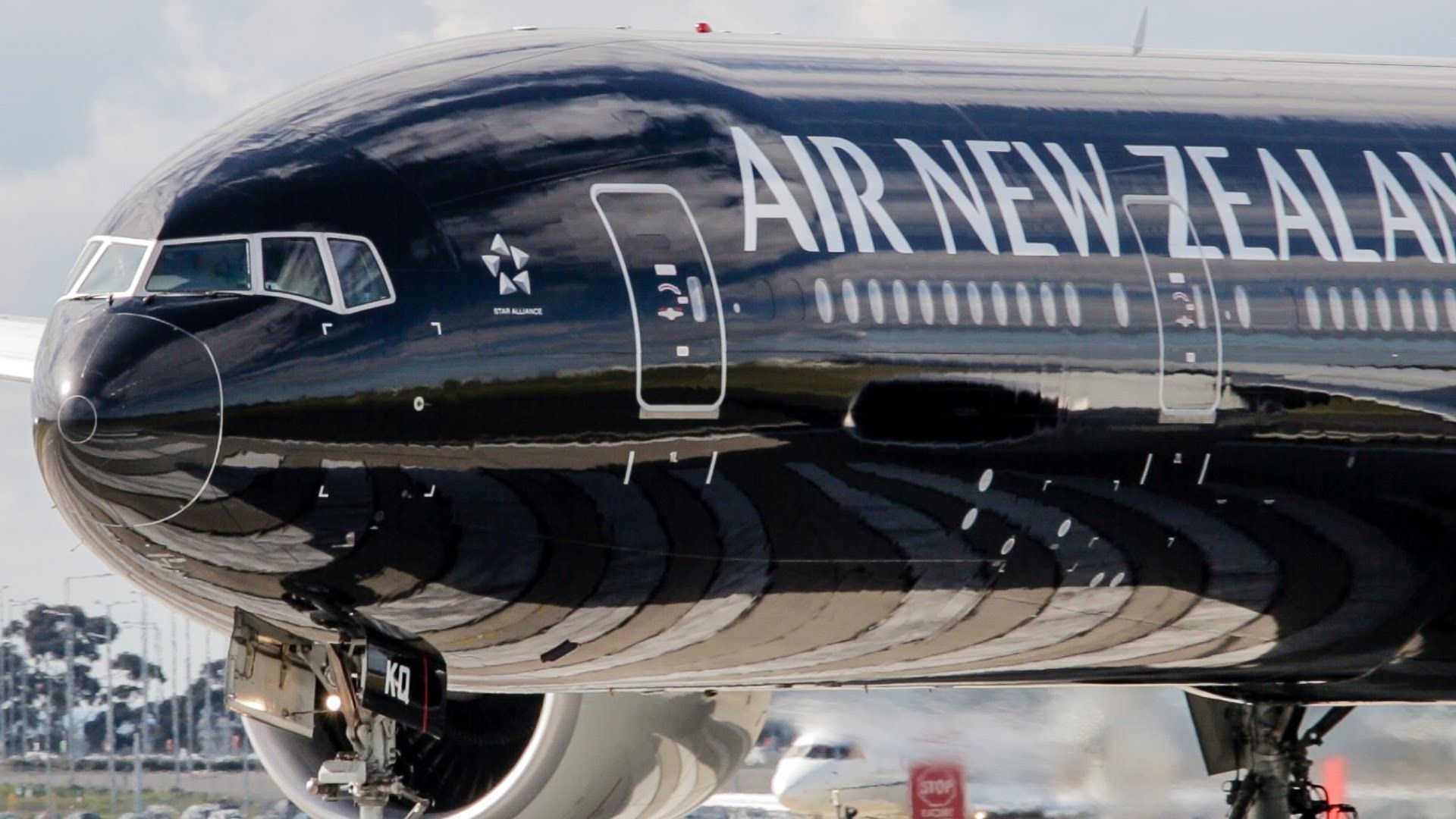 Air New Zealand Boeing 777300ER ALL BLACK LIVERY Takeoff