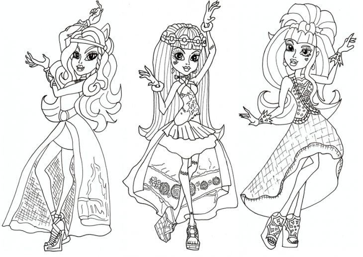 Monster high printable coloring pages monster high coloring pages az coloring pages