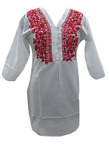 Bohemian White Embroidered Cotton Tunic Kurti S Mogul Interior http://www.amazon.com/dp/B00LCTYSG0/ref=cm_sw_r_pi_dp_319Tvb1ZTC1Y8