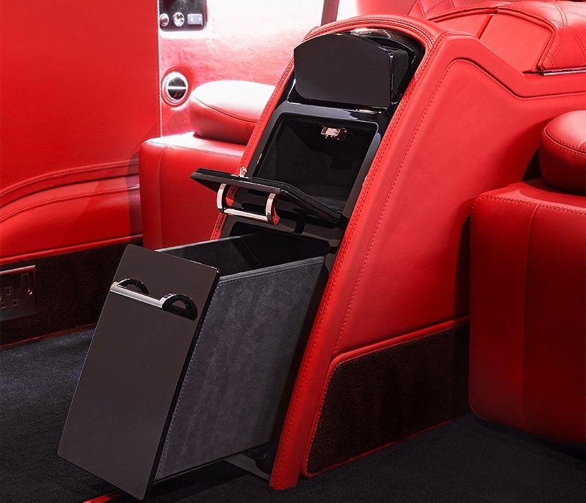 Car Interior Design: Mercedes V-Class Fireglow Red Interior