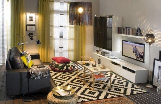 10 idee per il colore delle pareti in soggiorno - soggiorno bianco ... - Soggiorno Cucina Open Space Ikea