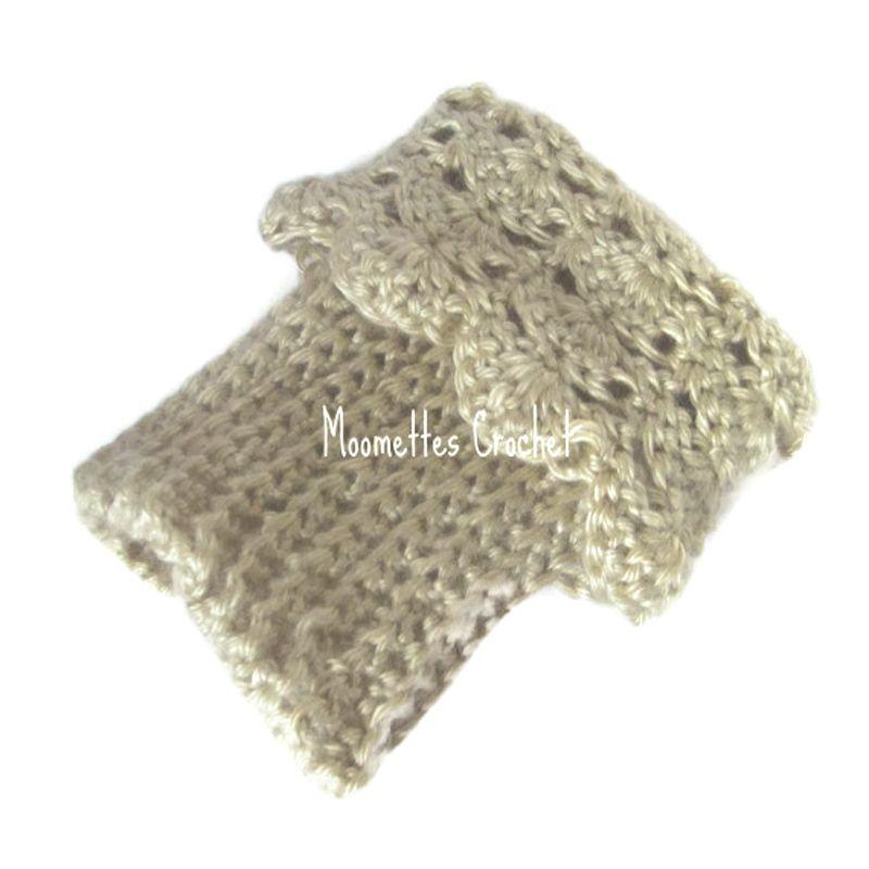 Beige Bone Boot Cuffs Boot Socks Leg Warmers by Moomettes Crochet ...