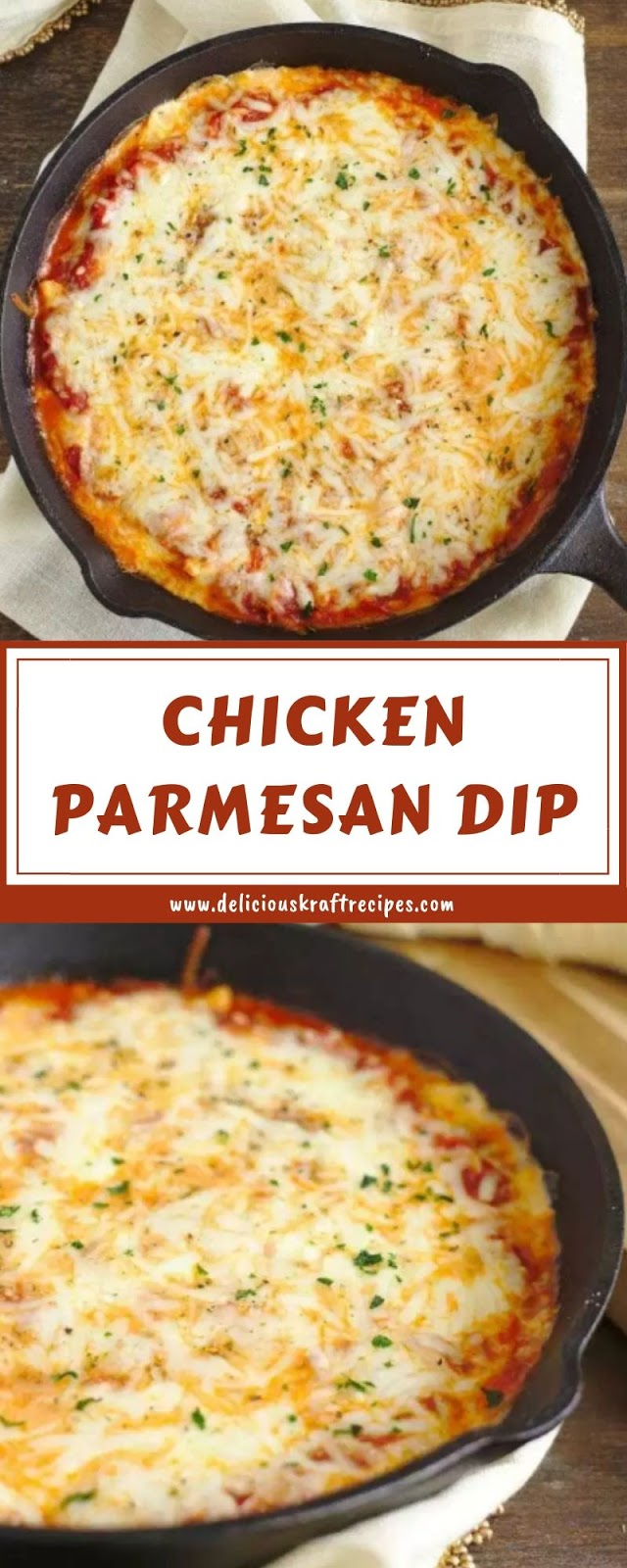 Delicious Kraft Recipes: CHICKEN PARMESAN DIP #chickenparmesan