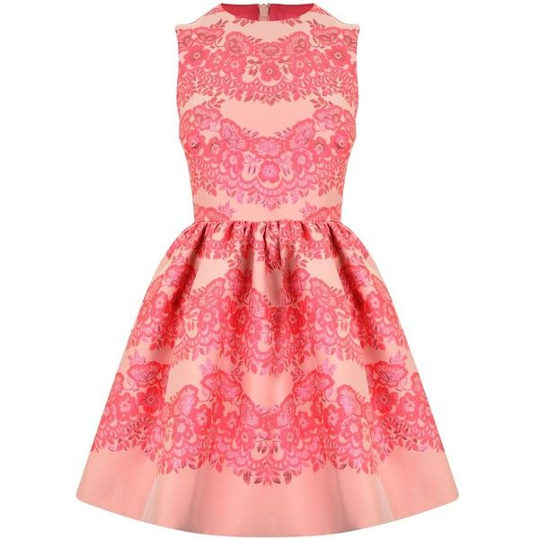 4890c96a775 RED VALENTINO Floral Brocade A Line Dress found on Polyvore