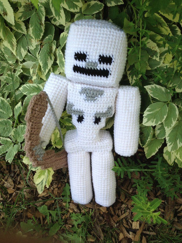Minecraft Skeleton - Crochet by rdekroon … | Pinteres…