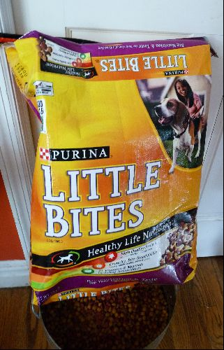 Dog Food Bag Recycled Dog Food Recipes Food Recycled Crafts