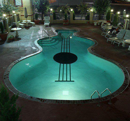 Guitar Shaped Pool Cool Pools Dream Pools Pool Designs