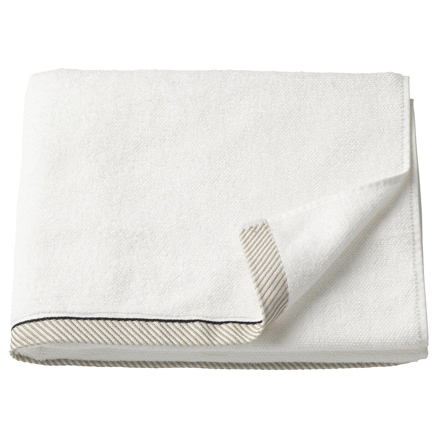 Vikfjard Drap De Bain Blanc 70x140 Cm In 2020 Handdoeken Ikea En Wasverzachter