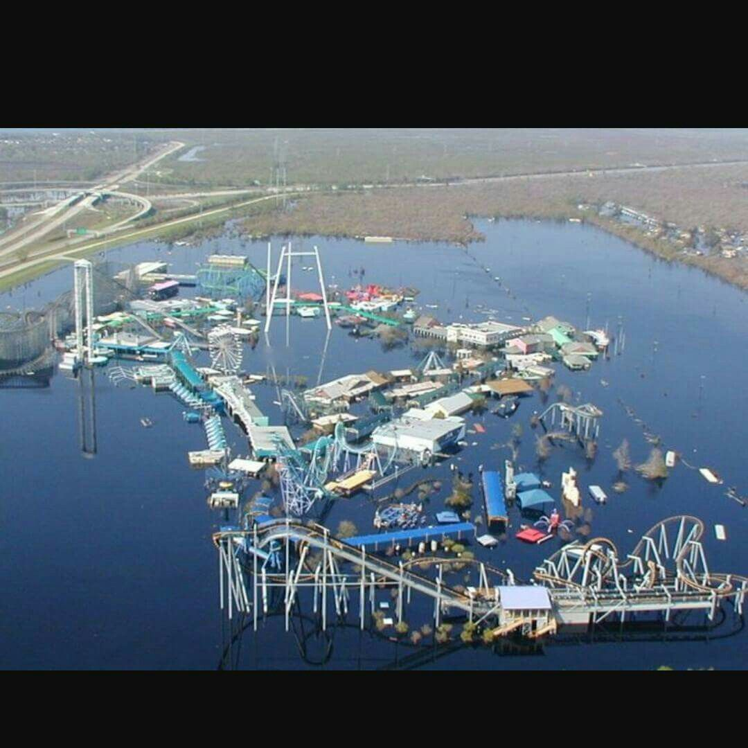 Not Much Left Of 6 Flags After Katrina (With Images