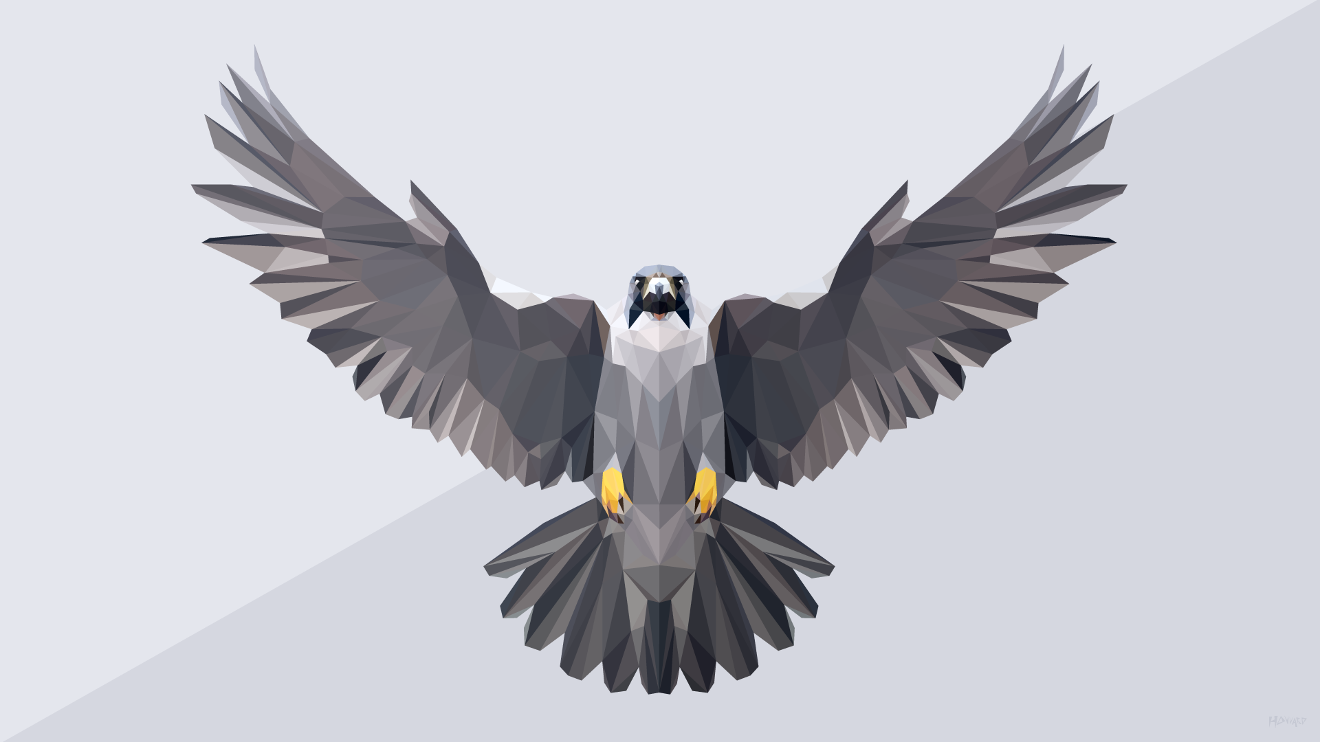 Low Poly Falcon 1920x1080 R Wallpapers Wallpaper R Wallpaper Wallpaper Backgrounds