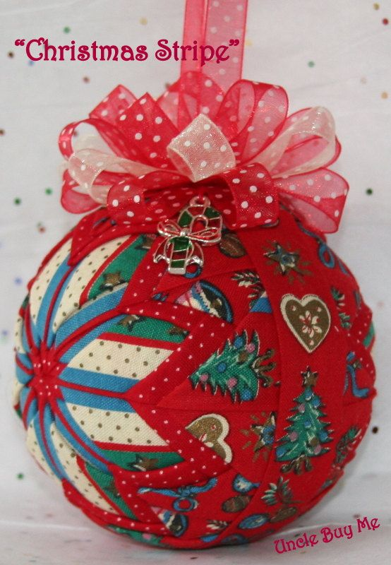 Quilted Ornaments Quilt Ball Ornaments Christmas by unclebuyme ... : quilted ball - Adamdwight.com