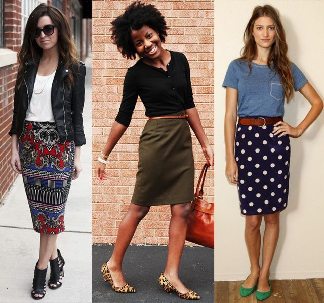 906e9e0b1c9 how to wear a pencil skirt with flats