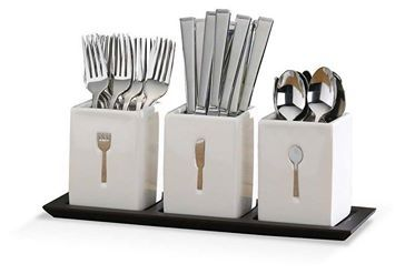 Always Looking For Ways To Organize A Pretty Table Forks Knives And Spoons Holders For Buffet Cutlery Storage Flatware Set Contemporary Flatware